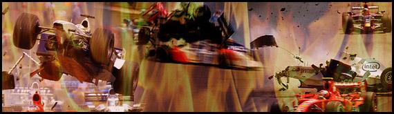 F1 Fórmula 1 acidentes não fatais