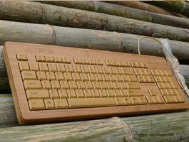 Teclado de bambú