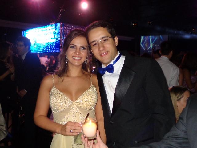 Filipe e Mariana em Festa de Formatura da Mauá
